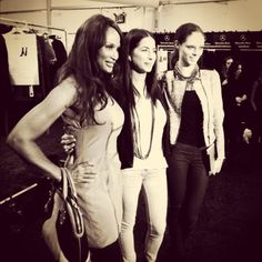 Backstage at  #RebeccaMinkoff with the beautiful and iconic  #BeverlyJohnson #NYFW