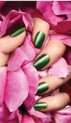 pink & green nail celebstylewed weddings nuptials