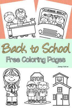 Printable back-to-school themed coloring pages to help your kids transition from summer to school Kids nervous about going back to school? Enjoy these back to school free coloring page set to help your kids transition to their new school year. Kindergarten Coloring Pages, Kindergarten Colors, Homeschool Kindergarten, Preschool Classroom, Kindergarten Orientation, Future Classroom, Back To School Party, Back To School Crafts, Free Preschool