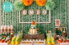 New Birthday Cake Ideas For Mom Boys 63 Ideas Birthday Cake For Mom, Dinosaur Birthday Party, 3rd Birthday Parties, Birthday Party Decorations, Happy Birthday, Dinosaur Decorations, Festa Jurassic Park, Safari Party, Baby Party