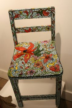Chair Of Flowers Hand Painted Chairsfunky Furnituremosaic