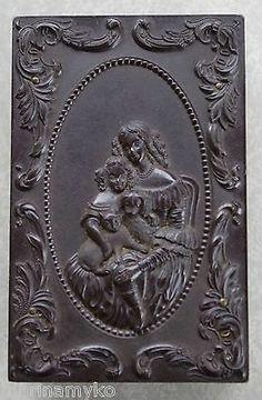Temperate Antik Aschenbecher Mädchen Bronze Bronze