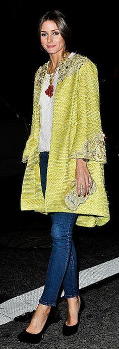 Olivia in a great coat!