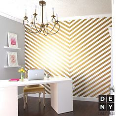 Some gold decorating ideas for my new office space