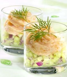 Tested and delicious recipe for cucumber and smoked salmon mousse Tapas, Snacks Für Party, Happy Foods, Appetisers, Finger Foods, Food Inspiration, Love Food, Appetizer Recipes, High Tea