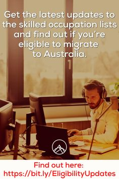 Get the latest updates to the skilled occupation lists and find out if you're eligible to migrate to Australia. Find out here. Latest Updates, Australia, Tips, Counseling