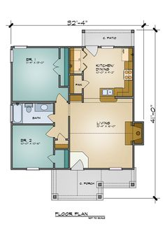 The Aiden 7105   2 Bedrooms And 1.5 Baths | The House Designers
