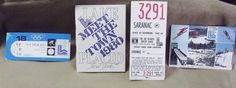 #USA #Olympics Lake Placid 1980 #Sports Memorabilia #Hockey Ticket Stub Guide Book Card