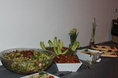 Wedding- Dinner Buffet- Fattoush Saladm Homemade Pita Chips, Hummus, Babaghanouj, and more!