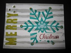 Stampin' Up! demonstrator Laura C's project showing a fun alternate use for the Watercolor Winter Simply Created Card Kit.