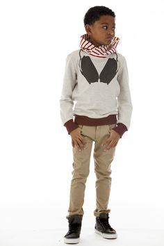 aw14: The Boy's Beats Hoodie, worn with narrow twill pants from Kana, turns every boy into a DJ. www.shopkana.com (buyers' pick)