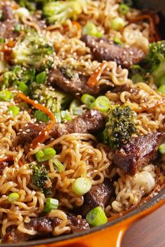 Mongolian Beef Ramen - can also use chicken per Laura Sapieszko