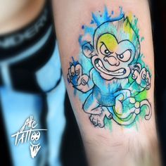 monkey tattoo watercolor alletattoo scimmia zoo wild