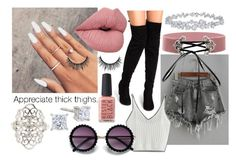 Appreciate Thick Thies by lexi-lovegood on Polyvore featuring polyvore, fashion, style, WithChic, Charlotte Russe, Harry Winston, Kester Black, xO Design and clothing