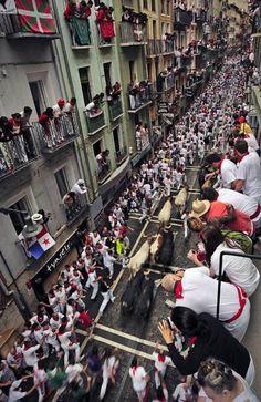 San Fermin festival in Pamplona, Spain