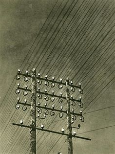 Lignes Electriques, France, 1930, photograph by Maurice Tabard.
