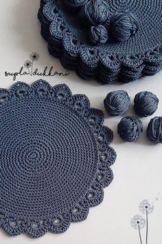 Mode Crochet, Crochet Home, Irish Crochet, Crochet Crafts, Crochet Projects, Crochet Quilt, Crochet Doilies, Small Crochet Gifts, Crochet Placemat Patterns