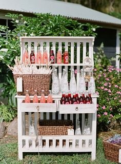 Awesome display idea for craft show booth---this idea would work with display of old doors on and around show booth table.