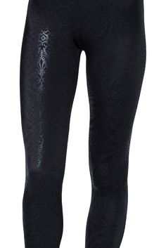 Geometric Floral Black Leggings by Black Milk Clothing $80AUD