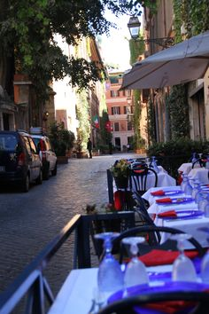Quiet cafe in Rome for lunch (Osteria Margutta, near the Spanish Steps