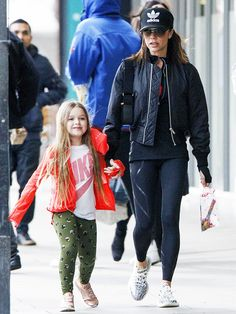Victoria Beckham takes a break from her usual stylings to demonstrate her polished take on athleisure dressing.