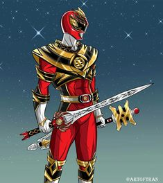 Jason Lee aka King Tyranno w/ the Power Sword & Gold Power Staff - Artist: Tinh Hung Vo Tran #∆∆shani