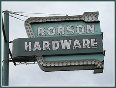 Robson Hardware sign.