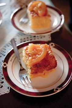 Orange Cake (Portokalopita) - Chopped phyllo dough gives this orange-scented custard cake from Crete its layered texture.