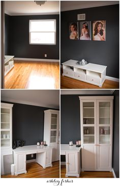 grey and white liatorp ikea office remodel