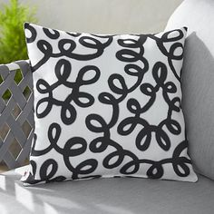 """Party Squiggle 20"""" Outdoor Pillow- Paola Navone Collection I Crate and Barrel"""