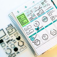 Planner page by designer Tiffany O'Grady using the Sweet Stamp Shop Basic Tabs and Just Icons stamp sets