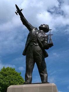 Statue to Robert Watson Watt, the man who invented radar, Brechin, Scotland.
