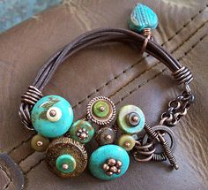 :: The Cerebral Dilettante: A Turquoise Overdose! :: The bronze is perfect with turquoise.
