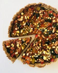 Tarta de vegetales con masa de avena - Green Vivant