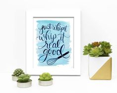 Whip it real good Kitchen Painting Print by DrawnEastBoutique Cool Kitchens, Painting Prints, Unique Jewelry, Handmade Gifts, Boutique, Etsy, Vintage, Home Decor, Kid Craft Gifts