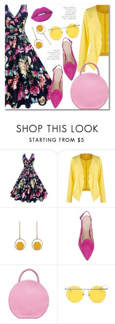 """Smell of roses"" by laurafox27 ❤ liked on Polyvore featuring Mansur Gavriel, LMNT and Lime Crime"