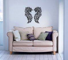 Wall Decor Vinyl Decal Sticker   BEAUTIFUL ANGEL WINGS DA455 #Stickalz