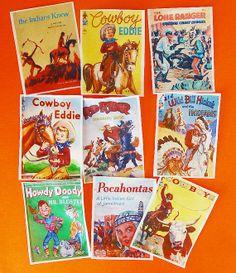 Vintage Cowboys and Indians Children's Book by QueenofTartsWafers, $9.50