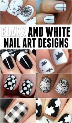 Black white nail designs for the ultra-chic nail enthusiasts. Lots of great patterns featuring the classic black and white.