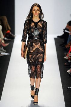 BCBG Max Azria Spring 2014// Learn how to hand render lace: http://www.universityoffashion.com/lessons/rendering-lace/
