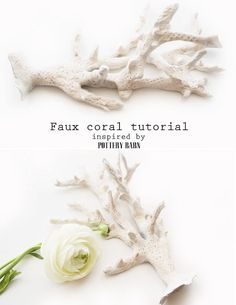 Diy Faux Coral - made with air dry clay - Tutorial