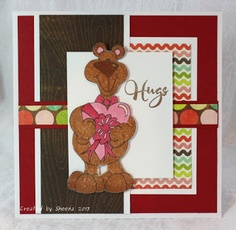 handmade Valentine Card featuring sentiment stamp from @Vanessa Jacky-Davis Stamps, image from #PixieCottage, papers from #MyMindsEye