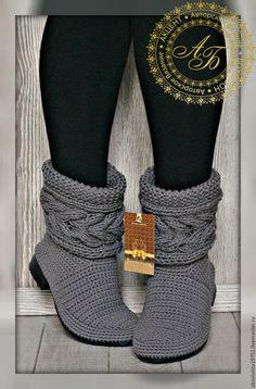 Crochet Sandals, Crochet Boots, Crochet Slippers, Crochet Baby, Knit Crochet, Crochet Shoes Pattern, Shoe Pattern, Crochet Patterns, Crochet Winter Dresses