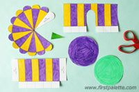 Step 3 Paper Circus Tent craft