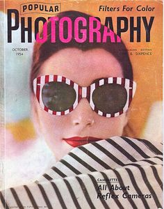 Popular Photography October 1954    Photograph by Bert Stern