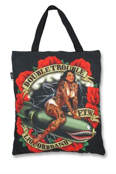 Double Trouble Tote Bag https://www.highvoltageclothing.com
