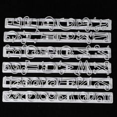 6 stks/set Alfabet Letters Cijfers Tappits Franje Edge Fondant Kauwgom Plakken Cutters Cake Cookie Bakken accessoires Mold…