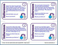 Inference task cards  Tips for Teaching Inference | Minds in Bloom