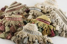 Charles Faudree Passementerie Trimmings collection: Pampille is a rolltop tassel fringe based on an archive that is a favorite of Charles. #charlesfaudree #stroheim #trimmings