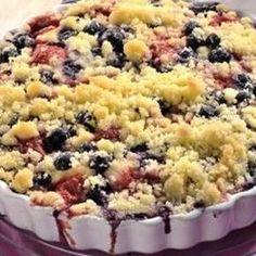 jogurtovy kolač s ovocem Challah, Sweet Recipes, Macaroni And Cheese, Tart, Aloe Vera, Muffin, Food And Drink, Cooking Recipes, Yummy Food